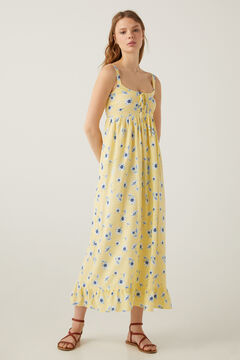 Springfield Long lace-up neckline dress color