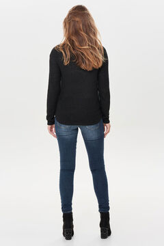 Springfield Long-sleeved jumper fekete