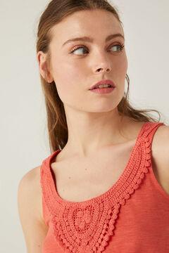 Springfield Shirt Ausschnitt Crochet rot