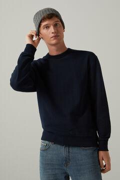 Springfield Klassisches Sweatshirt Box blau