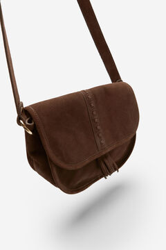 Springfield Split Leather Saddle Bag brown