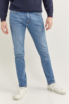 Springfield MEDIUM WASH SKINNY JEANS steel blue