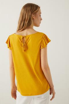 Springfield Camiseta escote crochet bimateria golden