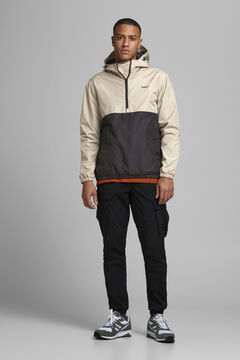 Springfield Two-tone technical jacket gray