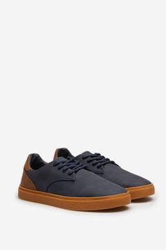 Springfield Zapato casual cordones suela caramelo azulado