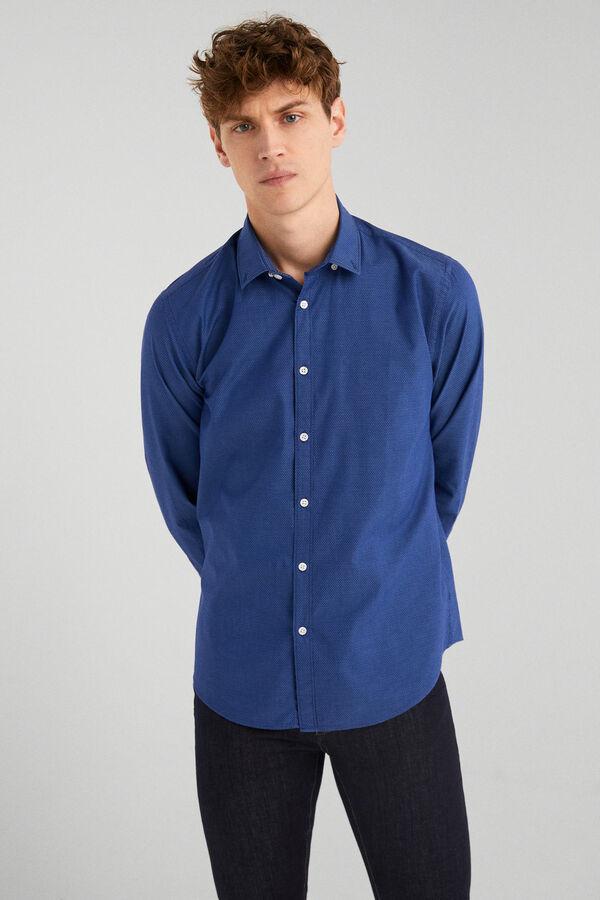 0f173fc34f18f Springfield Camisa estructura italiana azulado