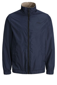 Springfield Contrast zip technical jacket navy