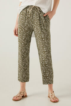 Springfield Floaty printed trousers dark gray