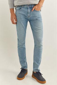 Springfield Jeans skinny lavado claro azul