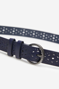 Springfield Floral Cutwork Belt navy mix