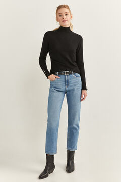 Springfield Button Cuff Jumper black