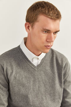 Springfield V-NECK JUMPER grey