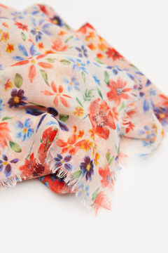 Springfield Patchwork floral print scarf navy