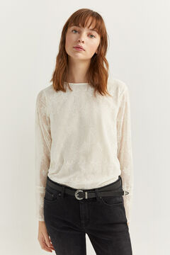 Springfield Embroidered shirt natural