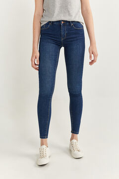 Springfield Hose Denim Jeggings blau