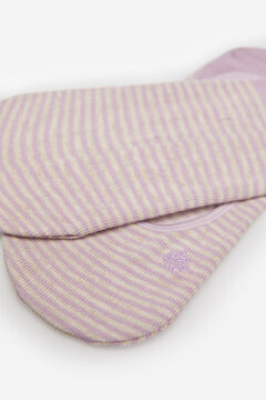 Springfield Invisible stripy socks  pink