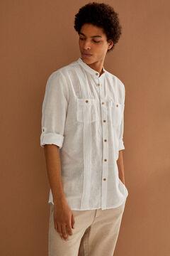 Springfield Camisa lino mao blanco