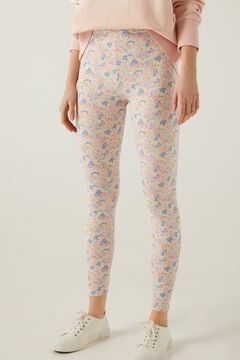 Springfield Printed Organic Cotton Leggings pink