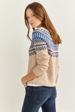 Springfield Pull Jacquard Frises Bleues pierre