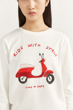 "Springfield Sweatshirt ""Ride With Style"" natur"
