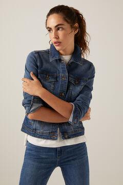 Springfield Organic cotton denim jacket steel blue