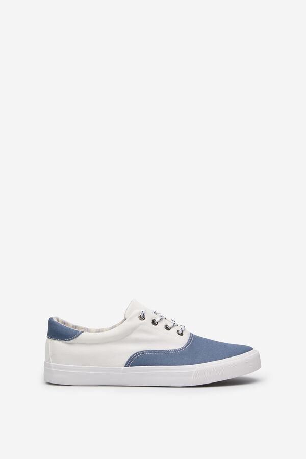 0516e82f Springfield Sneaker bicolor canvas moda azulado · Comprar