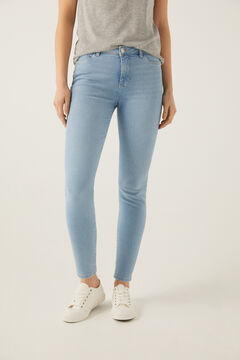 Springfield Jeans Slim Cropped Lavage Durable blau