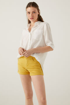 Springfield Coloured denim shorts yellow
