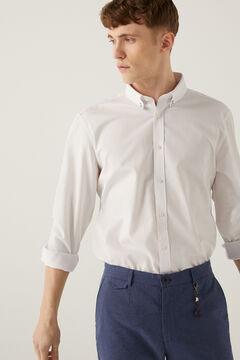 Springfield Camisa dobby branco