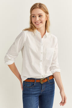 Springfield Textured Polka-Dot Shirt natural