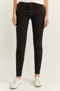 Springfield Jeans Slim Algodón Reciclado negro