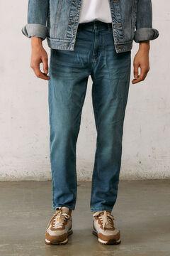Springfield Slim fit comfort knit jeans in medium-light wash blue