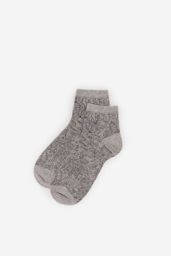 Springfield Jacquard ankle socks gray