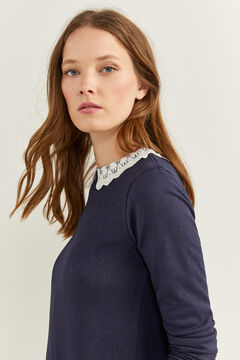 Springfield Lace Collar T-shirt blue