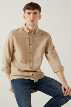 Springfield Linen shirt camel