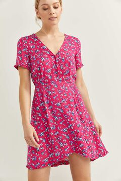 Springfield Printed wrap dress strawberry