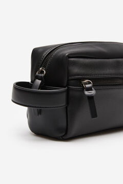 Springfield Faux leather vanity case black