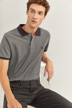Springfield Slim Oxford polo grey mix