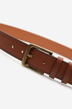Springfield REVERSIBLE FAUX LEATHER BELT brown