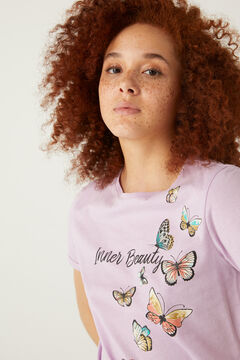 "Springfield ""Inner Beauty"" t-shirt purple"