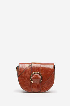 Springfield Buckle Crossbody Bag camel