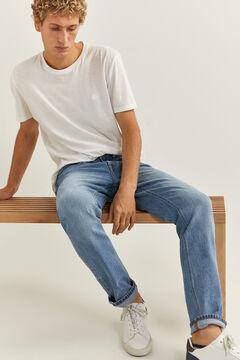 Springfield Jeans slim lavado medio vintage azul
