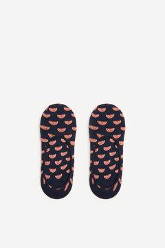 Springfield Mandarin no-show socks indigo blue