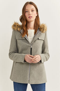 Springfield Fur Hood Coat gray