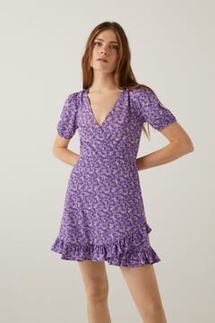 Springfield Printed short dress purple