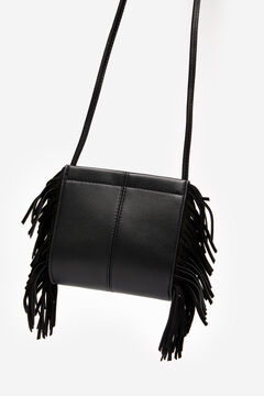 Springfield Fringed crossbody bag black