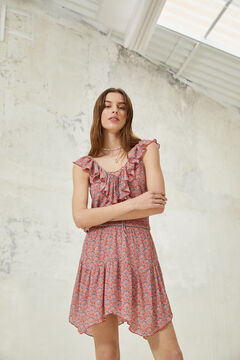 Springfield Boho peaked hem dress bordeaux