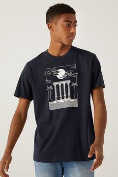 Springfield Greek T-shirt blue