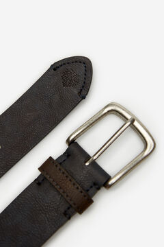 Springfield Essential faux leather belt blue