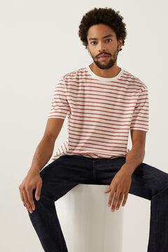 Springfield Camiseta rayas fresa